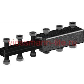 Распределительный коллектор из черной стали до 5 контура, до 85 кВт  Huch EnTEC 105.03.032.01