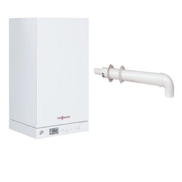 Viessmann Vitopend 100-W 34 кВт двухконтурный с закрытой камерой сгорания (турбированный)   Настенный газовый котел   A1JB012