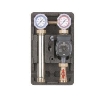 Насосная группа ECO 2 DK 1″ (без смесителя), с насосом Grundfos UPS 25-60 Huch EnTEC 101.30.025.01 GF