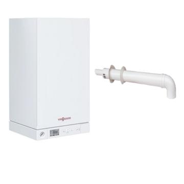 Viessmann Vitopend 100-W 34 кВт одноконтурный с закрытой камерой сгорания (турбированный) + коаксиальный дымоход Настенный газовый котел A1HB003