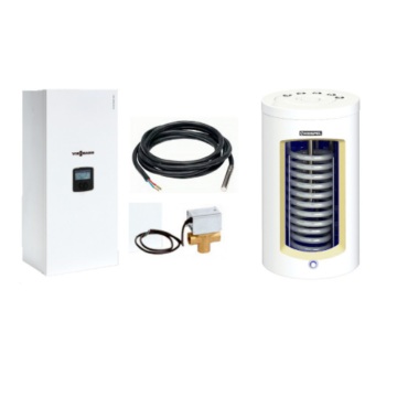 Пакет VIESSMANN VITOTRON 100 тип VLN3 24 кВт с бойлером 100 л Kospel тип VSWK 100 л (ZK06003)  постоянная температура подачи