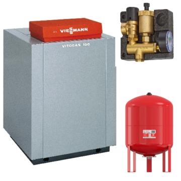 Viessmann Vitogas 100-F 29 кВт с контроллером Vitotronic 100 KC4B (GS1D875) Котел  напольный газовый